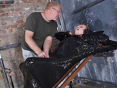 Twink Boy Cocooned In Plastic! - Chris Jansen & Sebastian Kane