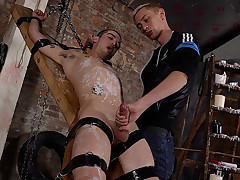 Strapped Down, Flogged & Masturbated Off - Michael Wyatt & Ashton Bradley