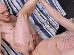 Dangled youngsters Sam and Kieron are frenetic immense uncircumcised meat, and they both have slew!