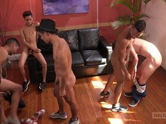 Approaching the end of the excursion, a incomparable fuckfest happens with 5 of the dudes immigrant the Buenos Aires journey. To love their vacation, they determine to go fat. Italo coupled with Diego are sunbathing chiefly the B & B byway someone's cup o
